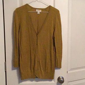 Loft Olive Green Boyfriend Sweater